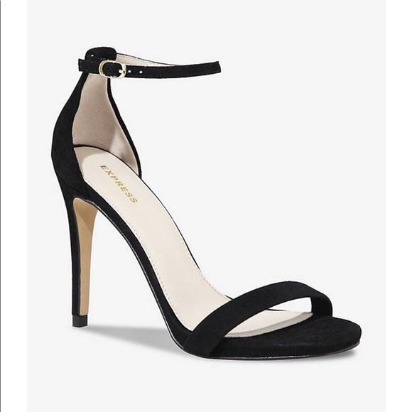 7193e81462d1 Express Shoes - Express Black Stiletto Heels Faux Suede 7